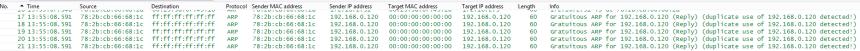 ARP Dulpicate IP
