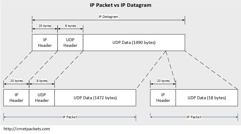 IP Packet vs IP Datagram